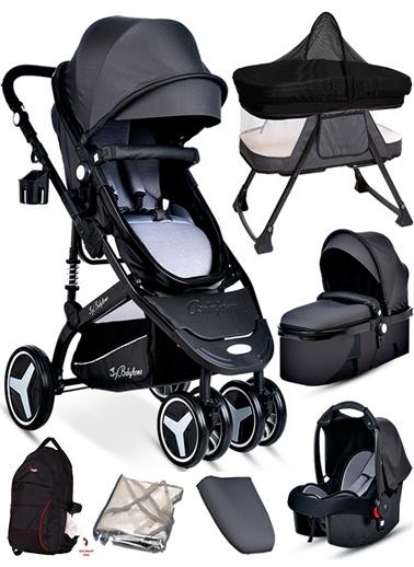 Baby Home Baby Home 945 Paris Travel Sistem Bebek Arabası Anne Yanı Sepet Beşik Füme